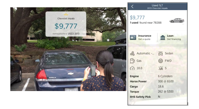 USAA Augmented Reality Car Buying App