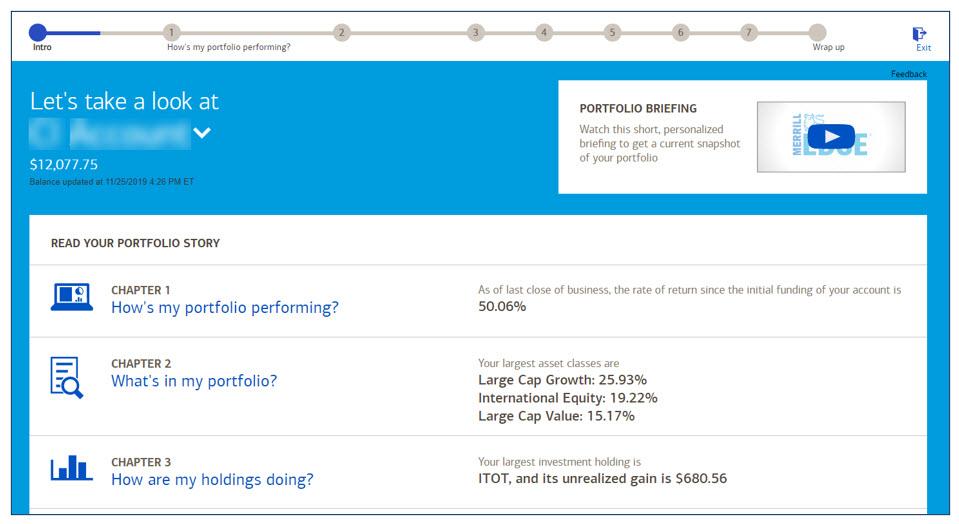 Merrill digital brokerage user experience investing education