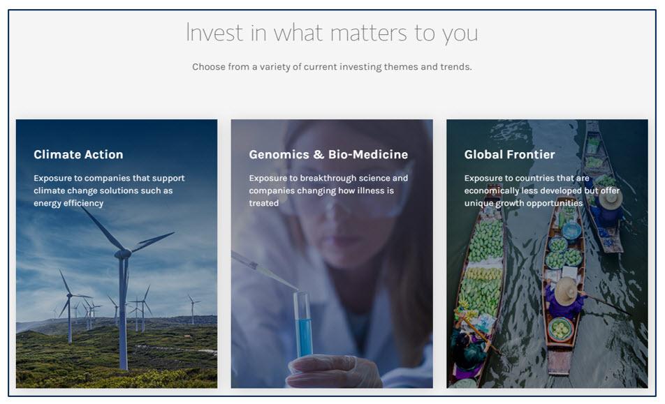 Morgan Stanley ESG SRI investment offerings