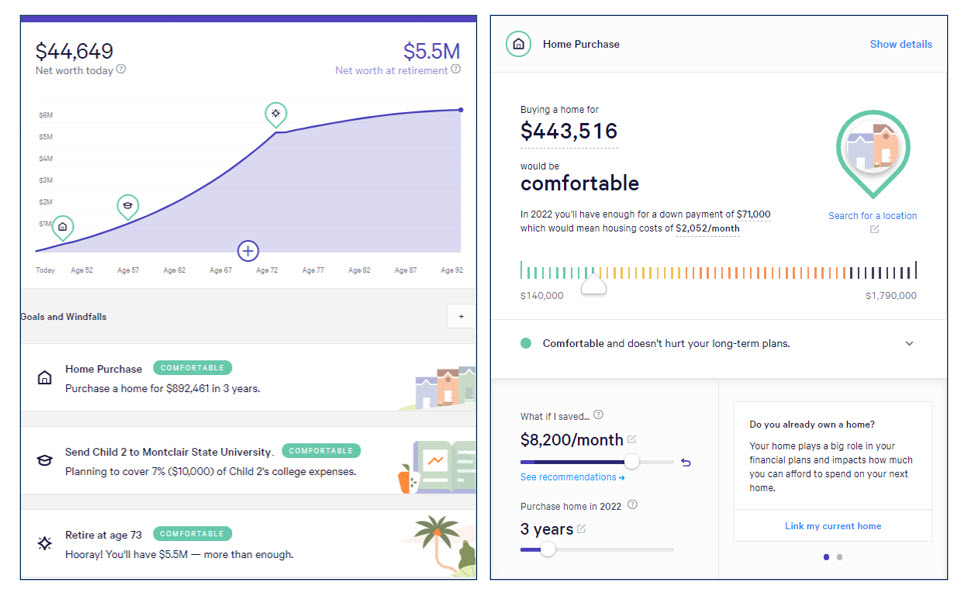 Wealthfront Path Planning Tool aggregation-based portfolio analysis and goal-tracking