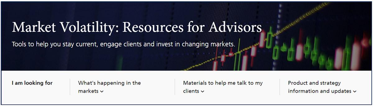 Market volatility webpage