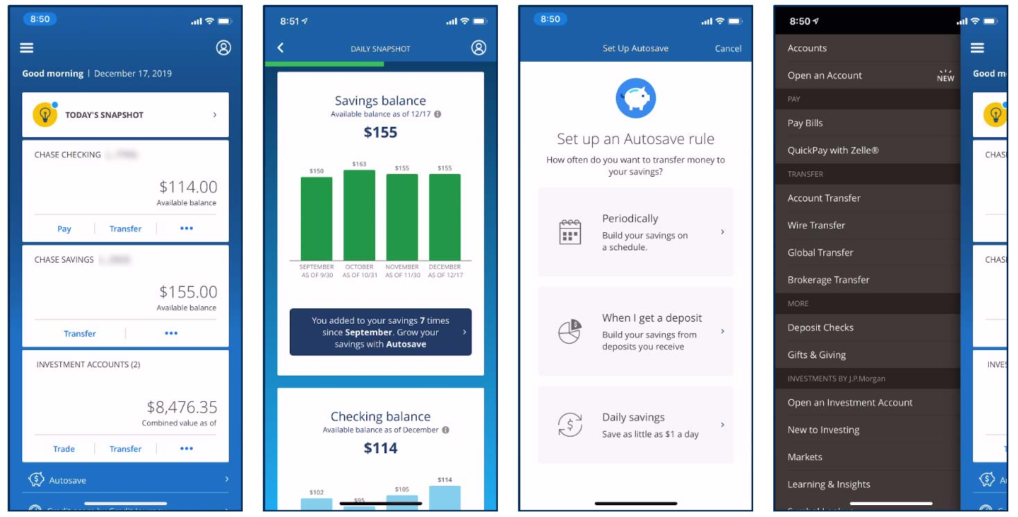 Chase iOS App Screenshot