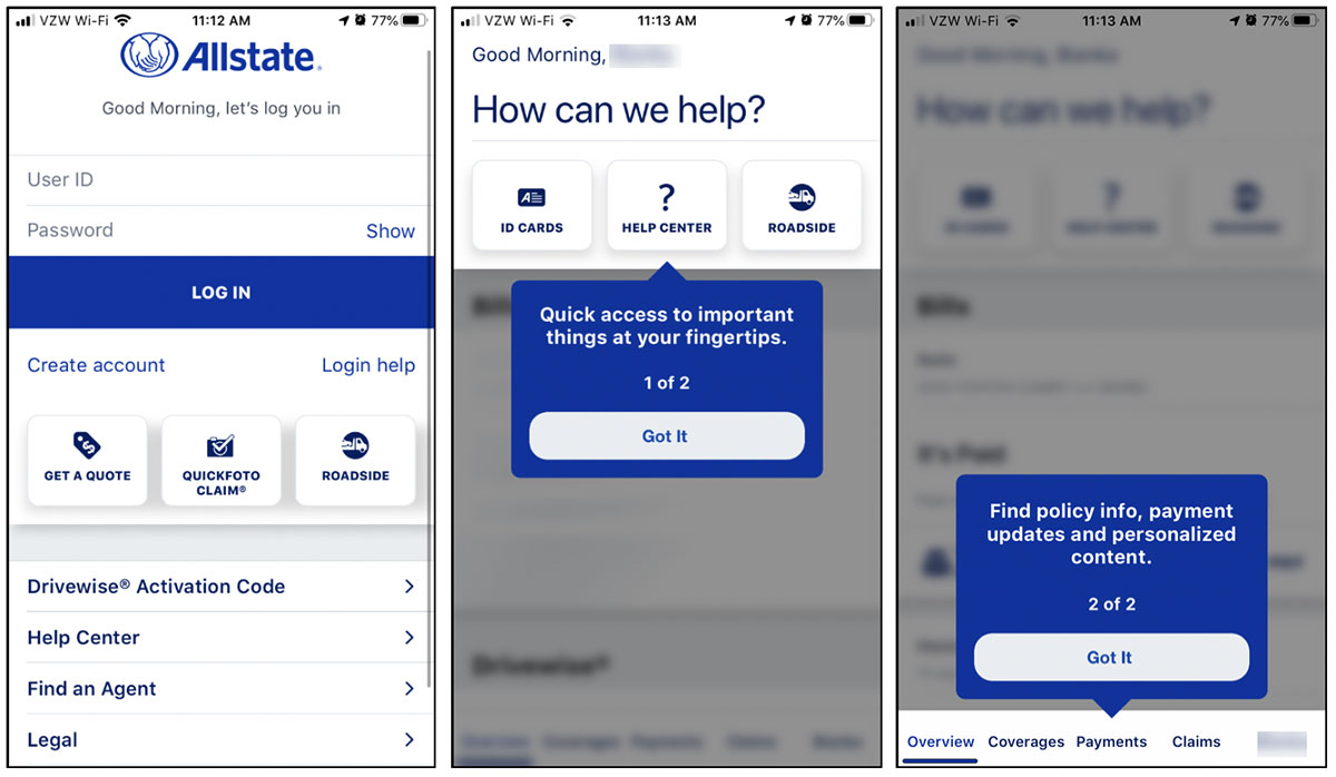 Revamped Allstate Insurance Mobile App Capabilities