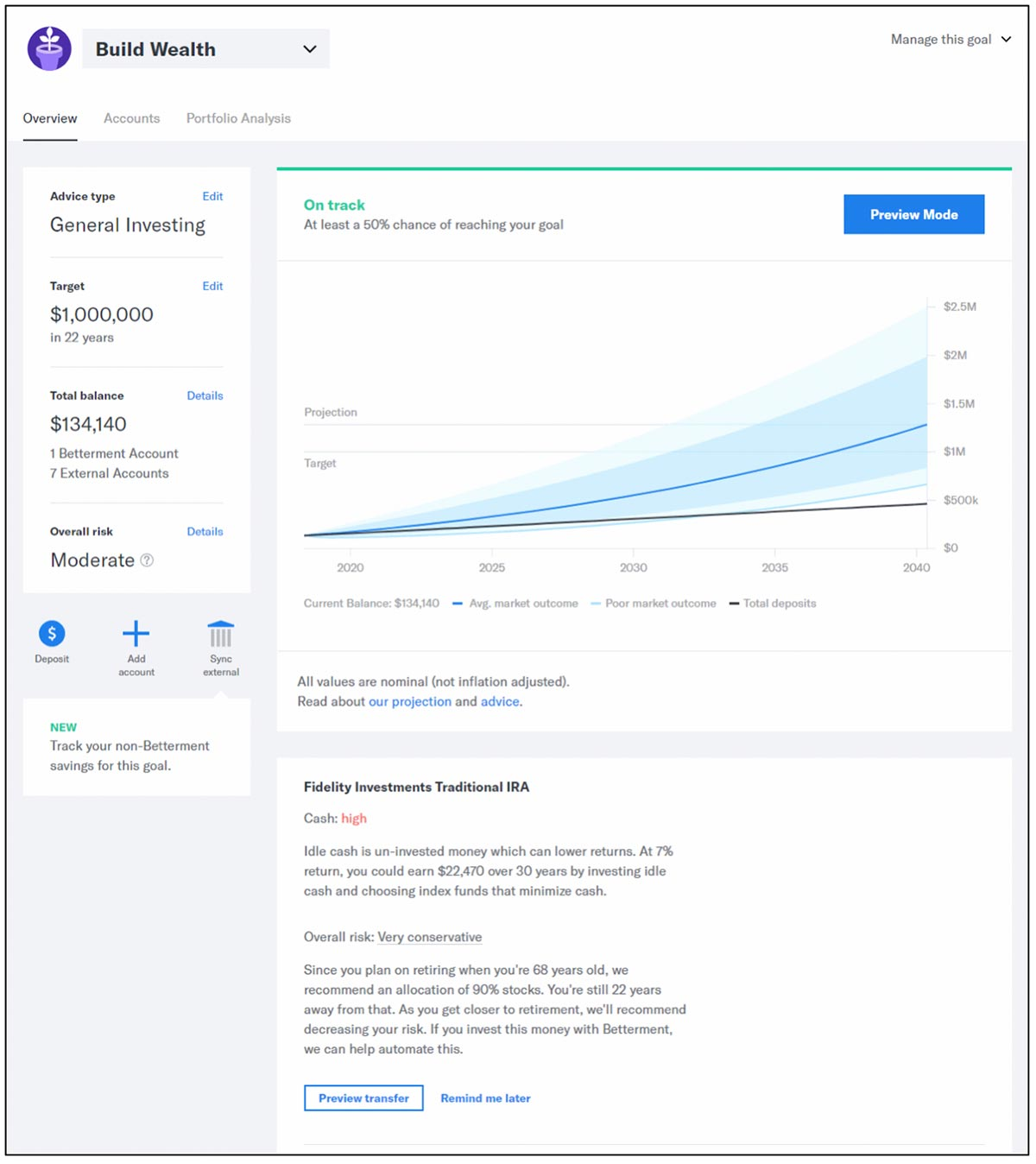 Betterment emerges as a leader in our comparison of aggregation-based financial planning tools
